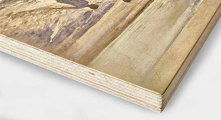 fotografia impresa en madera palencia